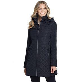 Women's Gallery Hooded Multi-Quilted Walker Jacket