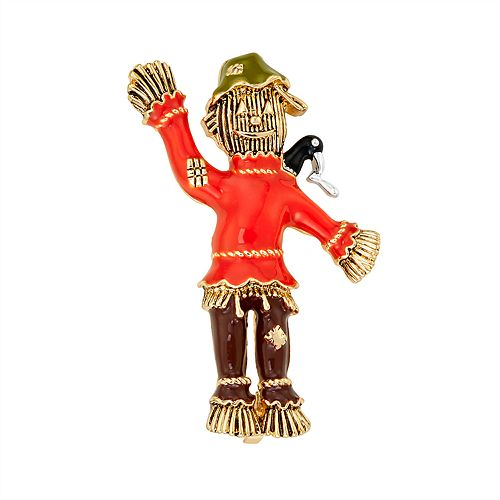 Napier Orange Scarecrow Pin