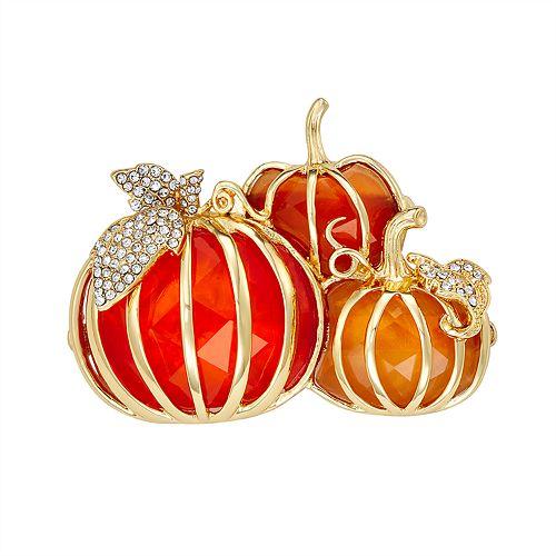 Napier Gold and Orange Pumpkin Pin