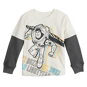 Toddler Boy Disney Jumping Beans© Toy Story Buzz Lightyear Slubbed Jersey Thermal Skater Tee