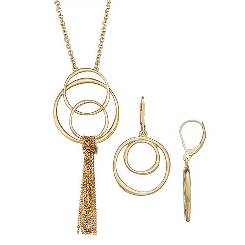 Women's Dana Buchman 28-in. Orbital Pendant Necklace - Gold