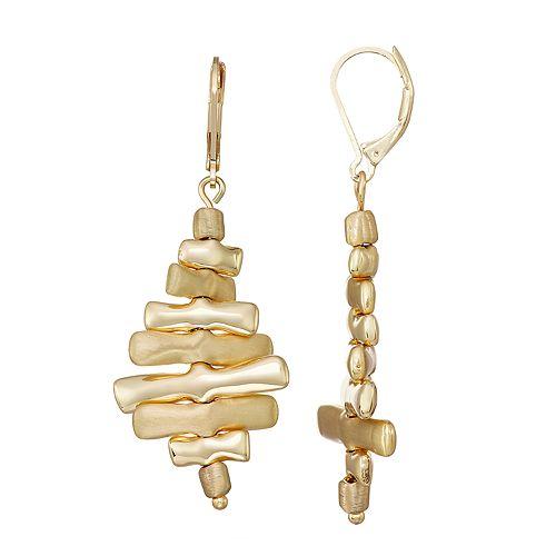 Women's Dana Buchman Leverback Drop Earrings - Gold