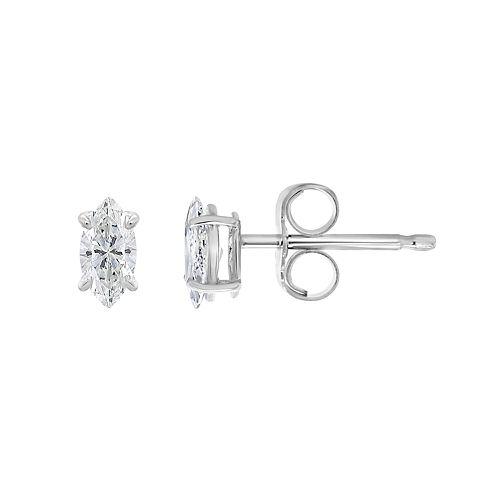 14K Gold 1/2 Carat T.W. IGI-Certified Diamond Stud Earrings