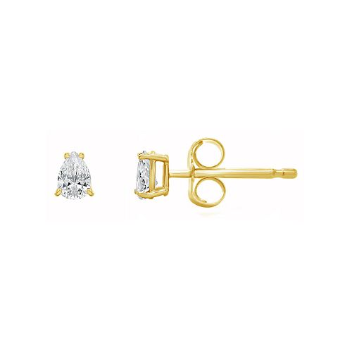 14K Gold 1/4 Carat T.W. IGI-Certified Diamond Pear-Shape Stud Earrings