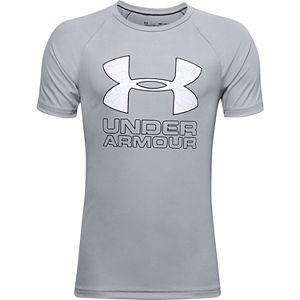 Boys 8-16 Under Armour Tech Hybrid Print Fill Logo Tee