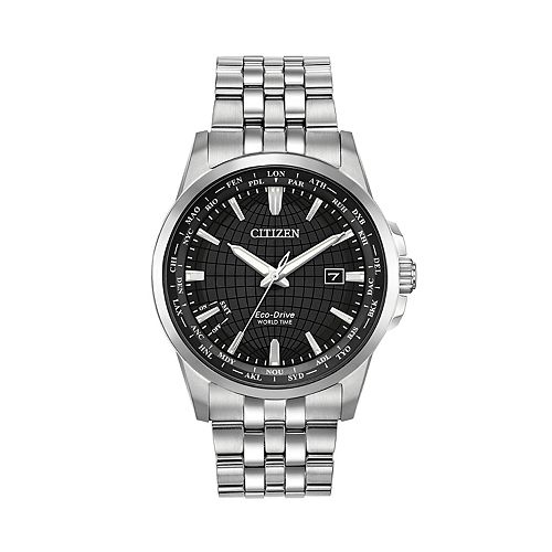 Citizen Eco-Drive Men's World Time Stainless Steel Watch