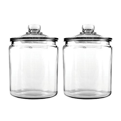 NEW 3pc Montana Anchor Hocking Home Room Kitchen Storage Decor Jar set w// Lids