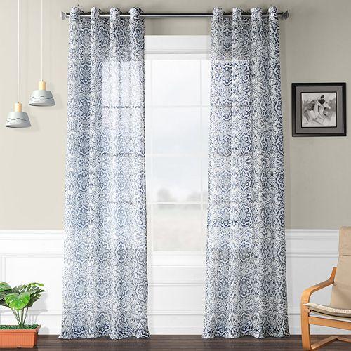 EFF Printed Sheer Curtain
