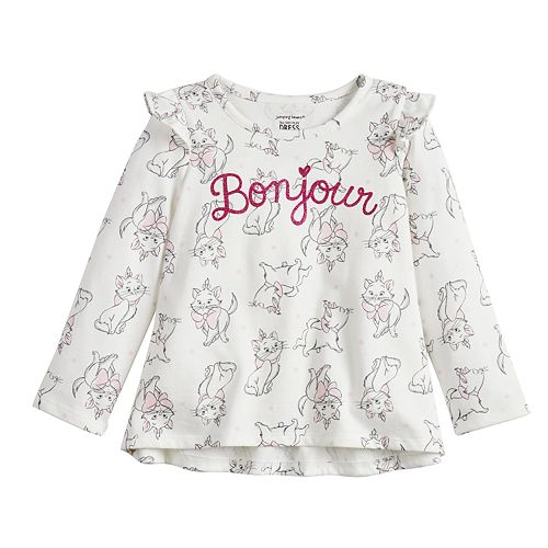 """Disney's Aristocats Marie Baby Girl """"Bonjour"""" Graphic Tee by Jumping Beans®"""