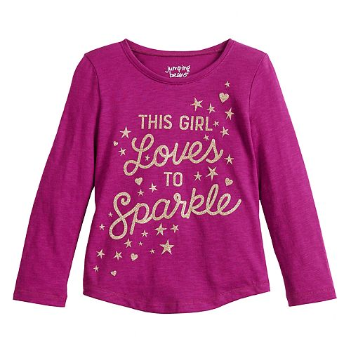 """Toddler Girl Jumping Beans® """"This Girl Loves To Sparkle"""" Graphic Tee"""
