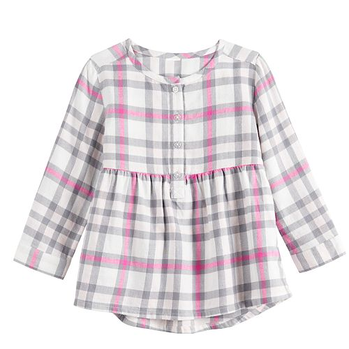 Toddler Girl Jumping Beans® Henley Babydoll Top