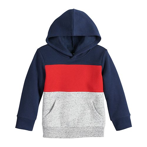 Toddler Boy Jumping Beans® Pullover Colorblock Hoodie