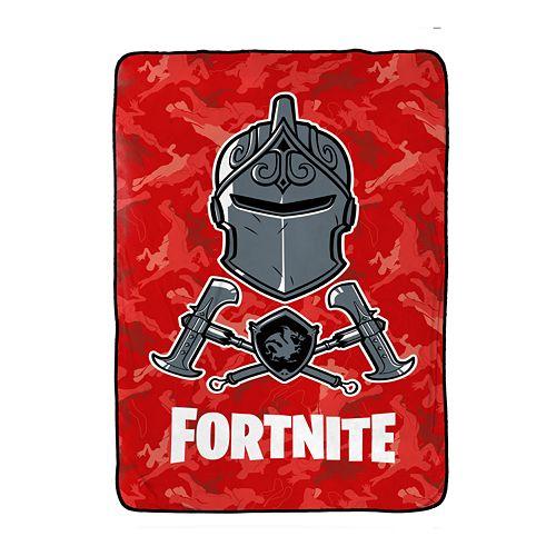 Fortnite Black Knight Red Camo Blanket