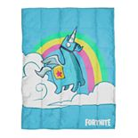 Fortnite Brite Unicorn Weighted Blanket
