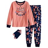 Girls' 4-12 Cuddl Duds® 2-Piece Pajama Set with Socks
