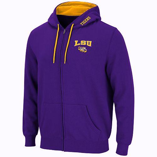 Men's LSU Tigers Full-Zip Fleece Hoodie