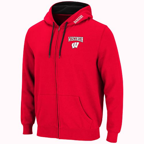 Men's Wisconsin Badgers Full-Zip Fleece Hoodie