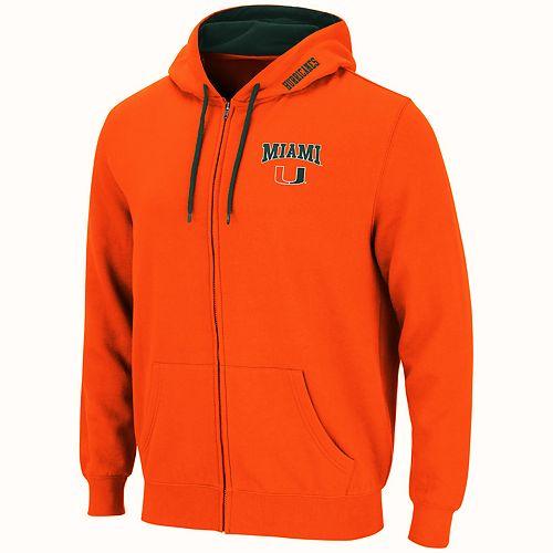 Men's Miami Hurricanes Full-Zip Fleece Hoodie