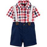 Baby Boy Carter's 2-Piece Dress Me Up Bodysuit & Shorts Set