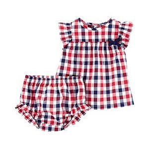 Baby Girl Carter's 2-Piece Plaid Top & Diaper Cover Set