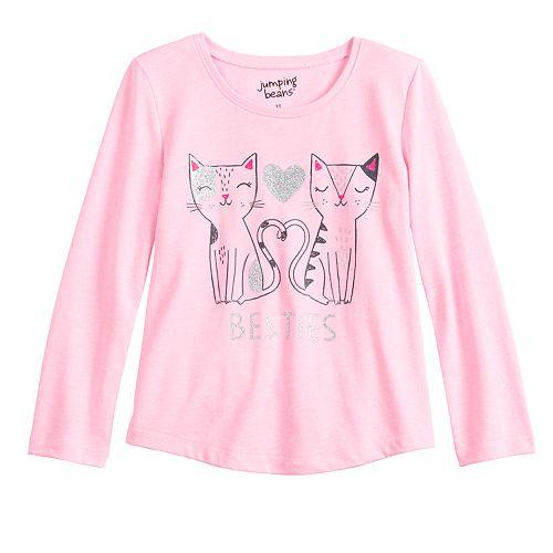 "Toddler Girl Jumping Beans® ""Besties"" Cat Tee"