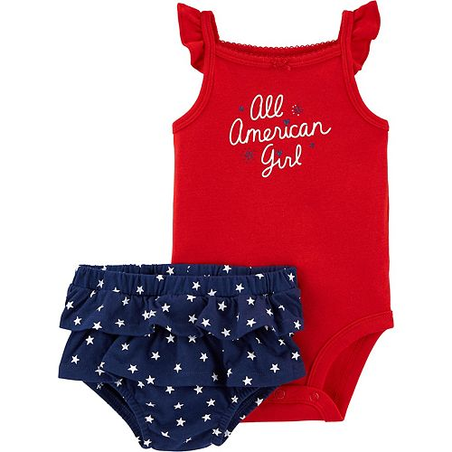 Baby Girl Carter's 2-Piece 4th Of July Bodysuit & Diaper Cover Set