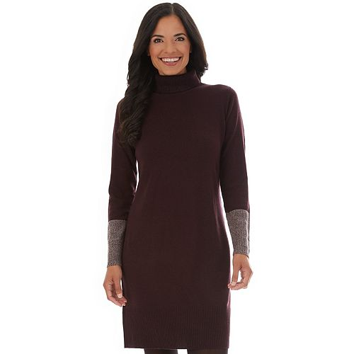 Women's Apt. 9® Sweater Dress Marled Color Block Cuff by Apt. 9