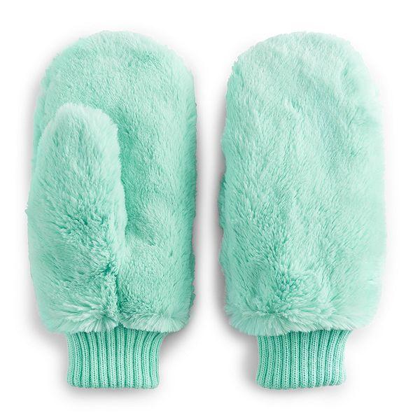 Women's SO® Faux Fur Mittens