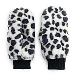Women's SO® Faux Leopard Fur Mitten