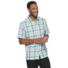 Mens White Button-Down Shirts Short Sleeve Tops, Clothing   Kohl's