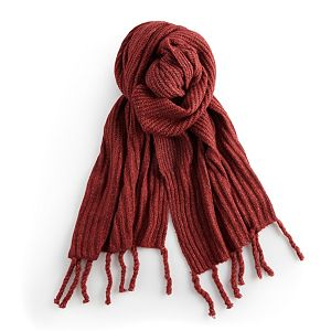 Women's SONOMA Goods for Life® Solid Noodle Fringe Scarf