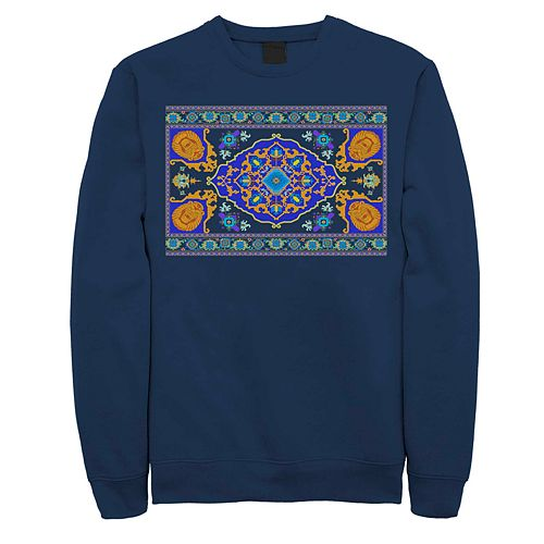 Men's Disney Aladdin Magic Carpet Panel Print Fleece Sweater