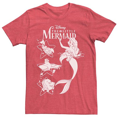 Men's Disney The Little Mermaid Ariel And Friends Graphic Tee