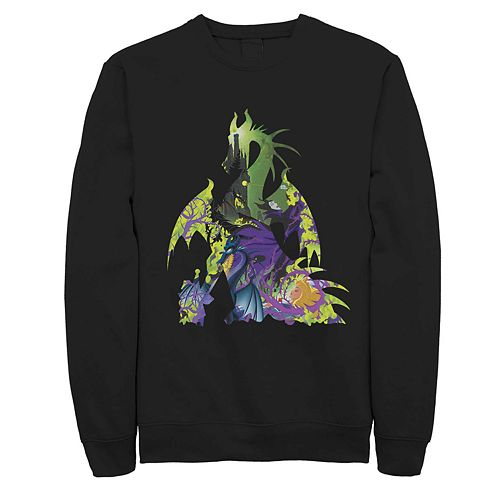 Men's Disney Sleeping Beauty Dragon Silhouette Fleece Sweater
