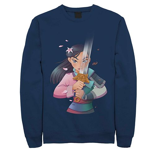 Men's Disney Mulan Anime Style Portrait Fleece Sweater