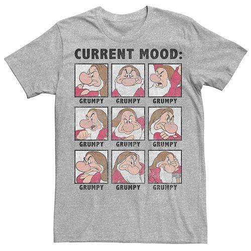 Men's Disney Snow White Current Mood Grumpy Graphic Tee