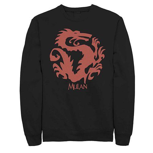 Men's Disney Mulan Mushu Dragon Symbol Fleece Sweater