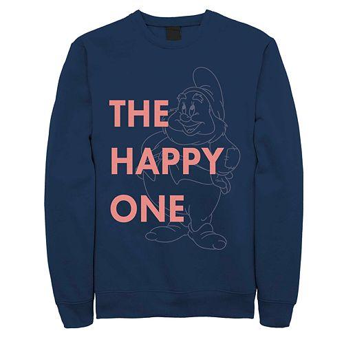 Men's Disney Snow White The Happy Dwarf Fleece Sweater