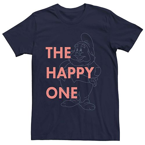 Men's Disney Snow White The Happy Dwarf Graphic Tee