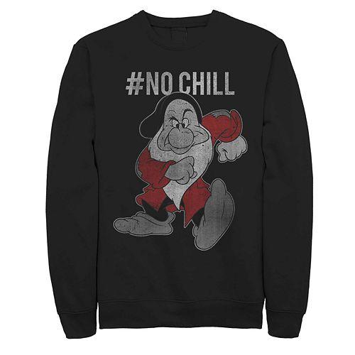 Men's Disney Snow White Grumpy No Chill Fleece Sweater