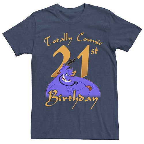 Men's Disney Aladdin Genie 21st Birthday Graphic Tee