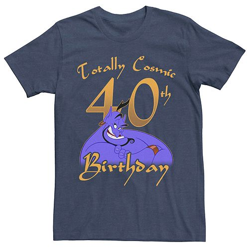 Men's Disney Aladdin Genie 40th Birthday Graphic Tee