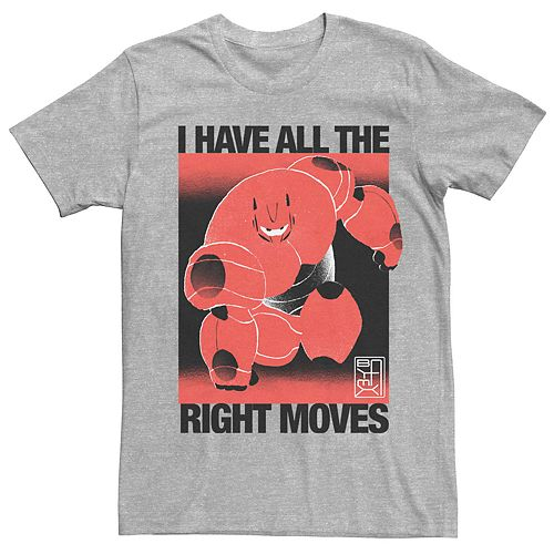 Men's Disney Big Hero 6 Baymax All The Right Moves Graphic Tee