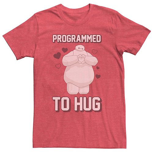 Men's Disney Big Hero 6 Baymax Programmed To Hug Graphic Tee