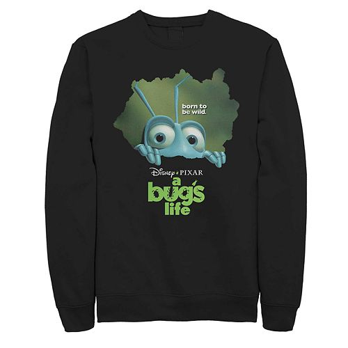 Men's Disney Pixar Bugs Life Flik Looking Through Logo Fleece Sweater
