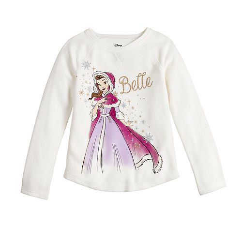 Disney's Beauty and the Beast Belle Girls 4-12 Thermal Raglan Tee by Jumping Beans®