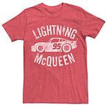 Men's Disney Pixar Cars 3 Lightning McQueen Poster Graphic Tee