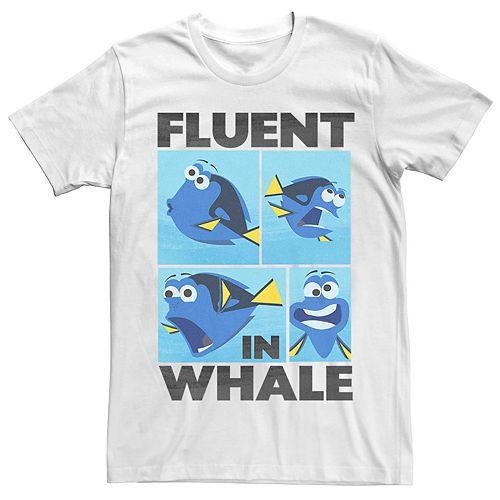 Men's Disney Pixar Finding Dory Fluent In Whale Tee