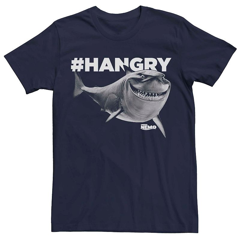 Men's Disney Pixar Finding Nemo Hangry Bruce Graphic Tee, Size: XL, Blue