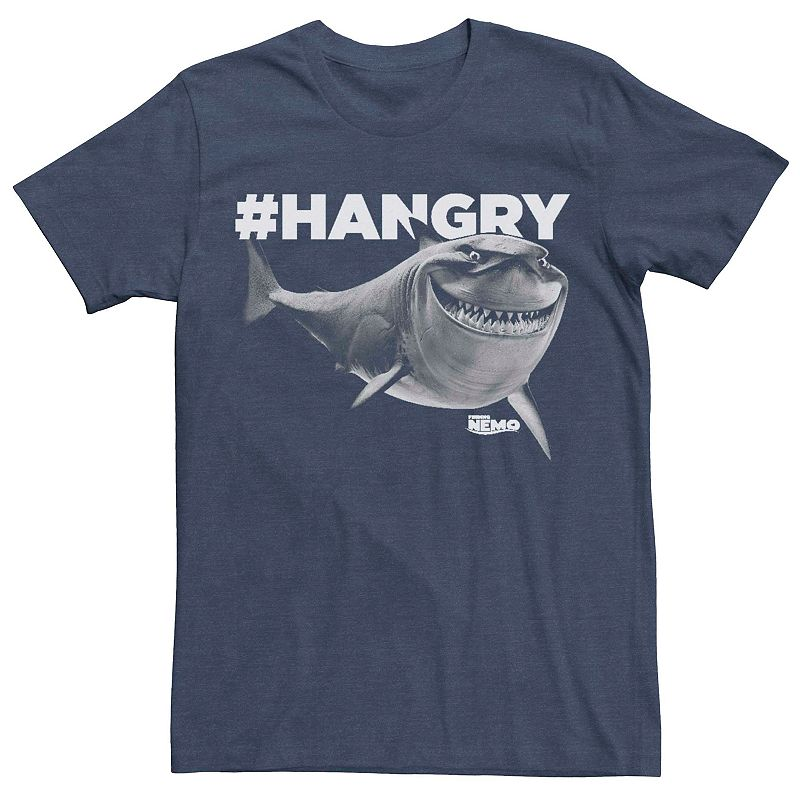 Men's Disney Pixar Finding Nemo Hangry Bruce Graphic Tee, Size: Medium, Med Blue